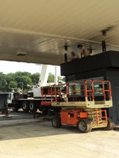 Gas Station Canopy Methodology for Replacing Aging Rain Collector Boxes