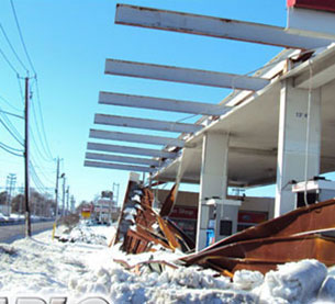 Service station canopies and building facades are battered by the elements every day while oversize vehicles and careless drivers can even cause substantial damage.